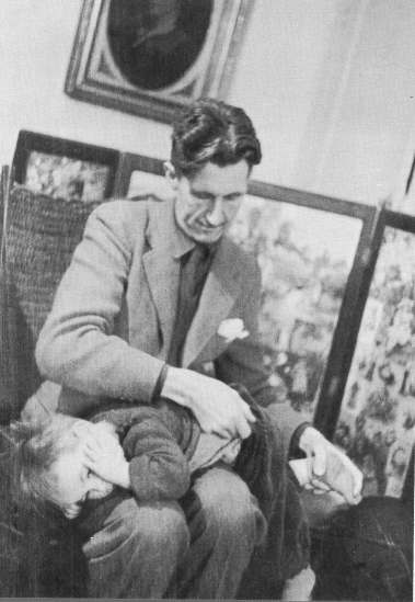 Orwell and his son, Richard
